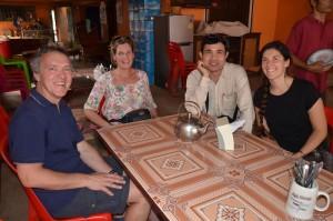 Thierry Dalewyn, Petra Swyngedouw, Sinthay Neb, Tine Demeulemeester, en Katrien Vandenbossche tijdens ons laatste bezoek in januari 2016